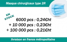 masques chirurgicaux, masque type 2R, masque chirurgical, masque de protection, masque pro